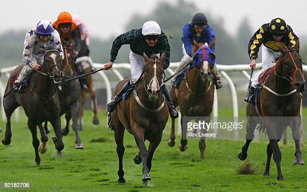Spiders Star ridden by MH Naughton wins the Best UK Racecourses On TurfTV Selling Stakes run at Catterick Racecourse on August 5 2008 in Richmond...