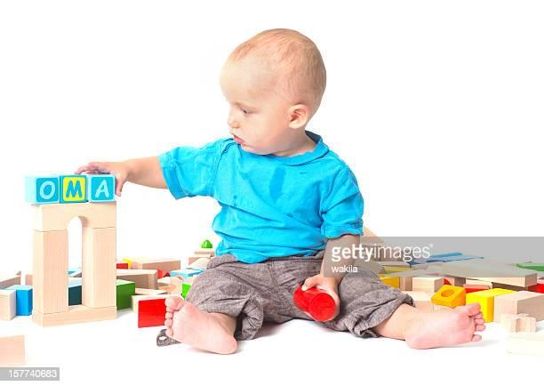 Spielendes Baby - Oma Grossmutter