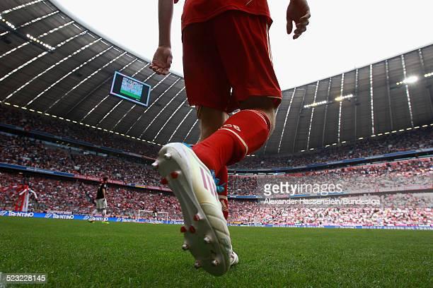 Spieler von Bayern Muenchen betreten das Spiefeld zum Bundesliga Spiel zwischen FC Bayern Muenchen und VfB Stuttgart in der Allianz Arena am 14 Mai...