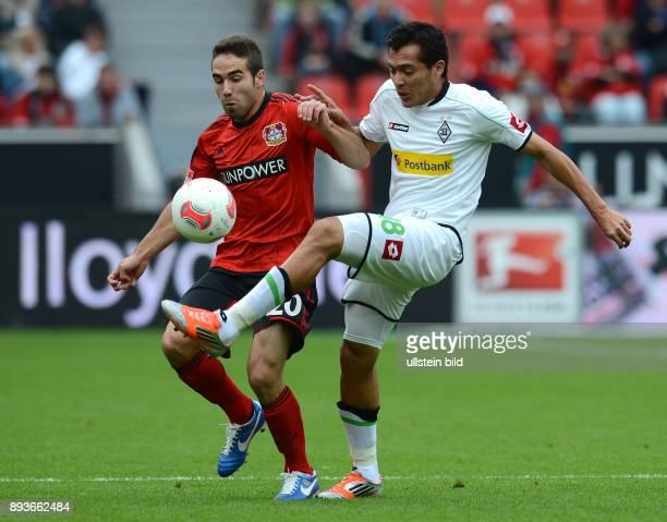 4 Spieltag Saison 2012/2013 FUSSBALL 1 BUNDESLIGA SAISON 2012/2013 4 Spieltag Bayer 04 Leverkusen Borussia Moenchengladbach Daniel Carvajal gegen...
