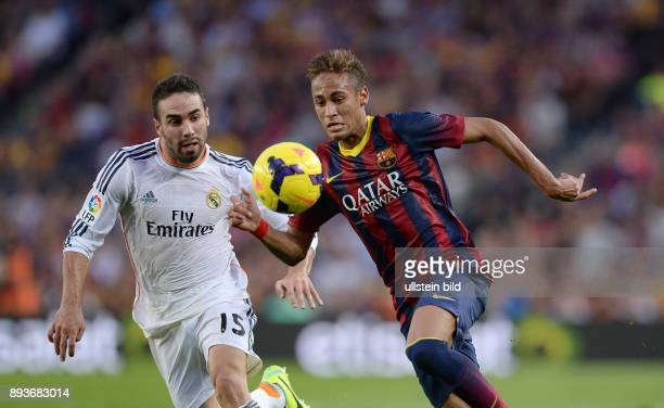 FUSSBALL INTERNATIONAL PRIMERA DIVISION SAISON 2013/2014 10 Spieltag El Clasico FC Barcelona Real Madrid Neymar gegen Daniel Carvajal
