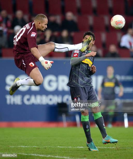 13 Spieltag Saison 2012/2013 FUSSBALL 1 BUNDESLIGA SAISON 2012/2013 13 Spieltag FC Augsburg Borussia Moenchengladbach Torwart Mohamed Amsif gegen...