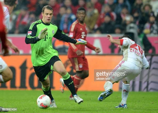 9 Spieltag Saison 2012/2013 FUSSBALL 1 BUNDESLIGA SAISON 2012/2013 9 Spieltag FC Bayern Muenchen Bayer 04 Leverkusen Torwart Manuel Neuer gegen...