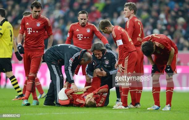 15 Spieltag Saison 2012/2013 FUSSBALL 1 BUNDESLIGA SAISON 2012/2013 15 Spieltag FC Bayern Muenchen Borussia Dortmund Verletzungspech beim FC Bayern...