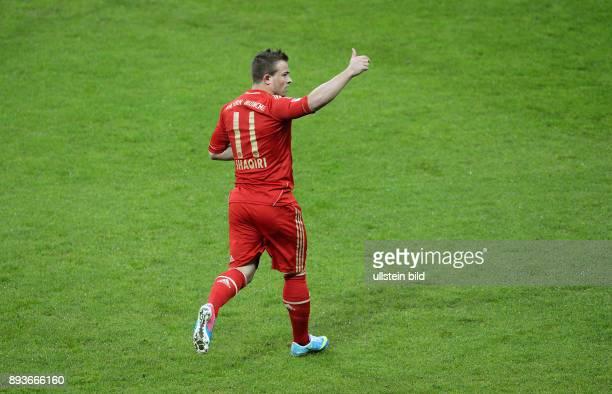 FUSSBALL 1 BUNDESLIGA SAISON 2012/2013 27 Spieltag FC Bayern Muenchen Hamburger SV Bayern Muenchen Torschuetze zum 10 Xherdan Shaqiri