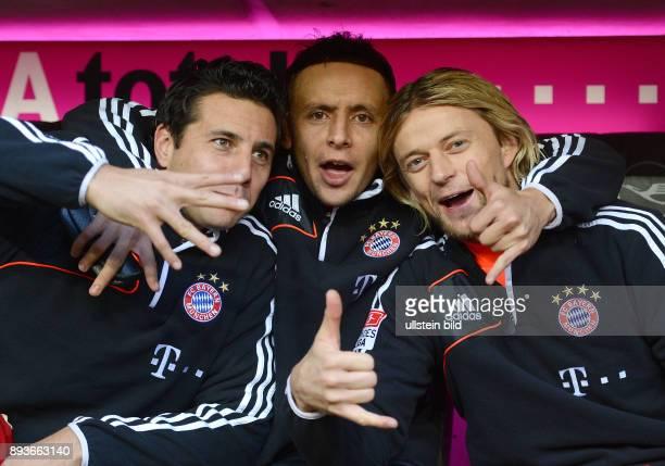 13 Spieltag Saison 2012/2013 FUSSBALL 1 BUNDESLIGA SAISON 2012/2013 13 Spieltag FC Bayern Muenchen Hannover 96 Jubel auf der Ersatzbank Claudio...