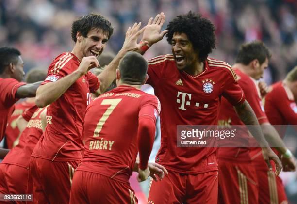 13 Spieltag Saison 2012/2013 FUSSBALL 1 BUNDESLIGA SAISON 2012/2013 13 Spieltag FC Bayern Muenchen Hannover 96 0 mit Javi Javier Martinez Franck...