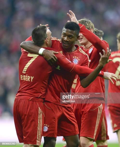 13 Spieltag Saison 2012/2013 FUSSBALL 1 BUNDESLIGA SAISON 2012/2013 13 Spieltag FC Bayern Muenchen Hannover 96 0 Franck Ribery mit David Alaba