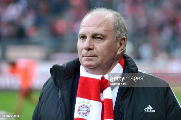 13 Spieltag Saison 2012/2013 FUSSBALL 1 BUNDESLIGA SAISON 2012/2013 13 Spieltag FC Bayern Muenchen Hannover 96 Praesident Uli Hoeness