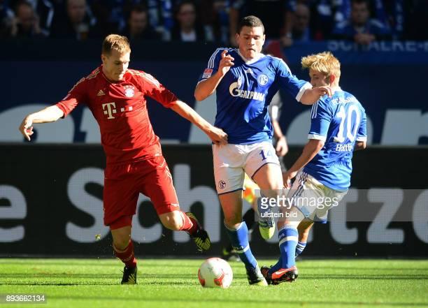 4 Spieltag Saison 2012/2013 FUSSBALL 1 BUNDESLIGA SAISON 2012/2013 4 Spieltag FC Schalke 04 FC Bayern Muenchen Holger Badstuber gegen Kyriakos...