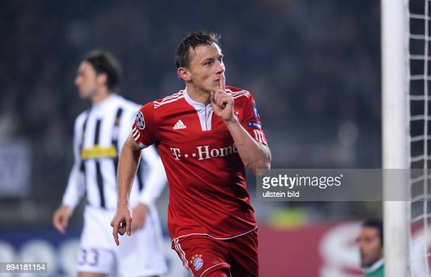 6 Spieltag Gruppe A Saison 2009/2010 FUSSBALL International Champions League SAISON Juventus Turin FC Bayern Muenchen JUBEL Ivica Olic