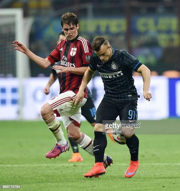 FUSSBALL INTERNATIONAL SERIE A SAISON 2014/2015 31 Spieltag Inter Mailand AC Mailand Xherdan Shaqiri gegen Andrea Poli