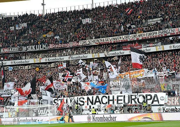 28 Spieltag Saison 2012/2013 Blick auf die Fankurve von Eintracht Frankfurt waehrend dem Fussball Bundesliga Spiel Eintracht Frankfurt gegen FC...
