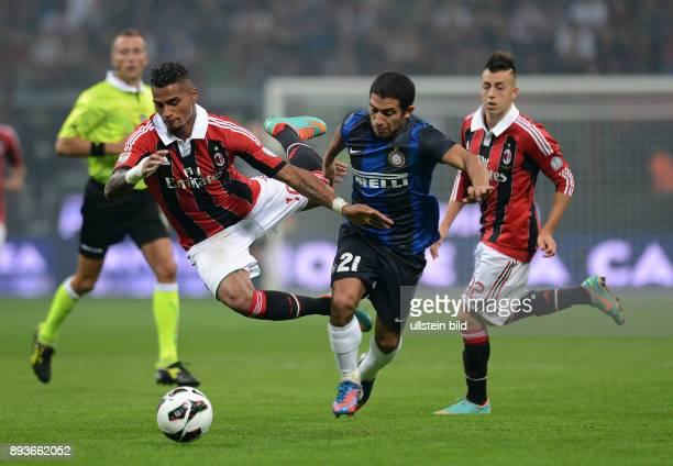7 Spieltag Saison 2012/2013 FUSSBALL INTERNATIONAL SERIE A SAISON 2012/2013 7 Spieltag AC Mailand Inter Mailand Kevin Prince Boateng gegen Andrea...