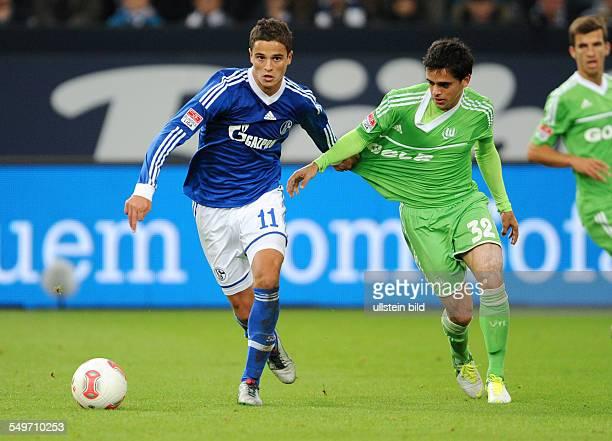 7 Spieltag Saison 2012/2013 Fussball Saison 20122013 1 Bundesliga 7 Spieltag FC Schalke 04 VfL Wolfsburg 30 Ibrahim Afellay li gegen Fagner