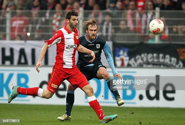 15 Spieltag Saison 2012/2013 Markus Karl Daniel Bierofka Zweikampf Aktion Spielszene FC Union Berlin TSV 1860 Muenchen München Sport Fußball Fussball...