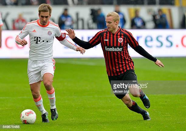 28 Spieltag Saison 2012/2013 Philipp Lahm im Zweikampf mit Sebastian Rode waehrend dem Fussball Bundesliga Spiel Eintracht Frankfurt gegen FC Bayern...