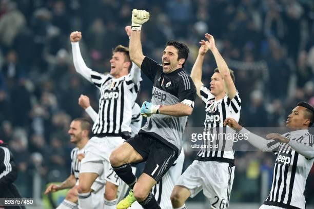 FUSSBALL INTERNATIONAL SERIE A 25 Spieltag SAISON Juventus Turin SSC Neapel Juventus Turin Torwart Gianluigi Buffon