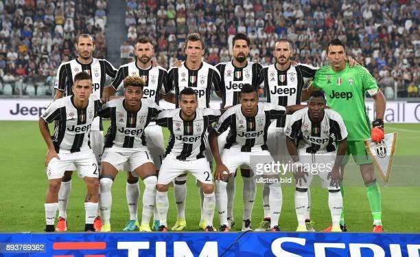 FUSSBALL INTERNATIONAL SERIE A 1 Spieltag SAISON Juventus Turin AC Florenz Mannschaftsbild Juventus Turin Giorgio Chiellini Andrea Barzagli Mario...