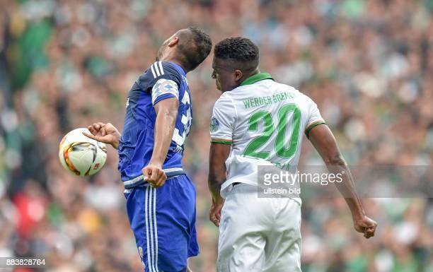 FUSSBALL 1 BUNDESLIGA SAISON 2015/2016 5 Spieltag SV Werder Bremen FC Ingoldstadt Marvin Matip gegen Ulisses Garcia