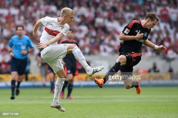 FUSSBALL 1 BUNDESLIGA SAISON 2014/2015 33 Spieltag VfB Stuttgart Hamburger SV Marcell Jansen gegen Timo Baumgartl