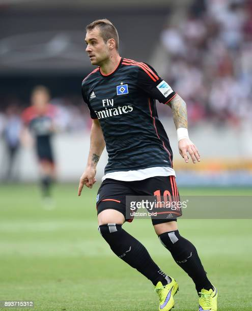 FUSSBALL 1 BUNDESLIGA SAISON 2014/2015 33 Spieltag VfB Stuttgart Hamburger SV PierreMichel Lasogga