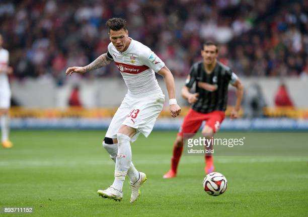 FUSSBALL 1 BUNDESLIGA SAISON 2014/2015 30 Spieltag VfB Stuttgart SC Freiburg Daniel Ginczek mit Ball