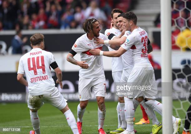 FUSSBALL 1 BUNDESLIGA SAISON 2014/2015 30 Spieltag VfB Stuttgart SC Freiburg VfB Stuttgart Alexandru Maxim Martin Harnik Christian Gentner Oriol...