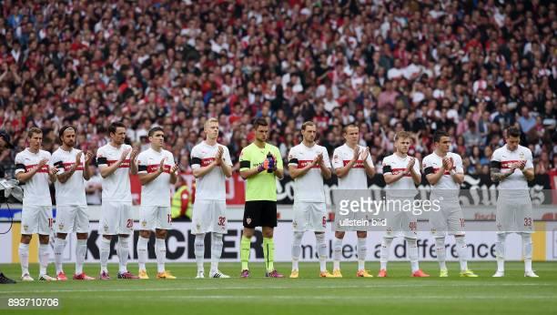 FUSSBALL 1 BUNDESLIGA SAISON 2014/2015 30 Spieltag VfB Stuttgart SC Freiburg Teambild VfB Stuttgart Florian Klein Martin Harnik Christian Gentner...