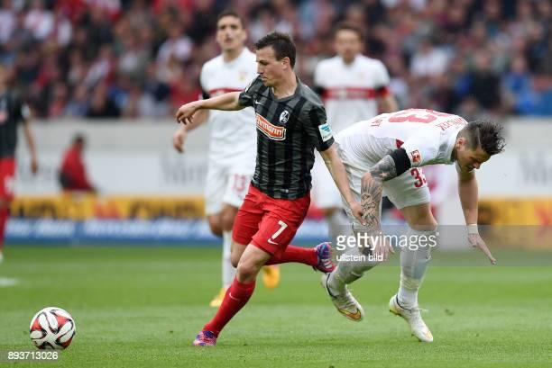 FUSSBALL 1 BUNDESLIGA SAISON 2014/2015 30 Spieltag VfB Stuttgart SC Freiburg Vladimir Darida gegen Daniel Ginczek