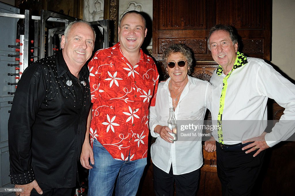 Spike Edney, Al Murray, Roger Daltrey and Eric Idle attend the Queen AIDS Benefit in support of The Mercury Phoenix Trust at One Mayfair on September 5, 2013 in London, England.