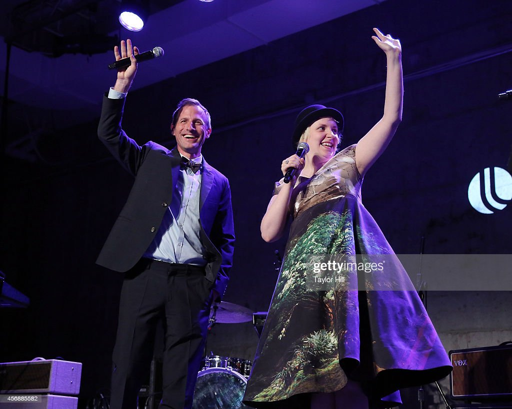 Spike Jonze and Lena Dunham perform at the 2014 The Lowline Anti-Gala Benefit Dinner at Skylight Modern on October 8, 2014 in New York City.