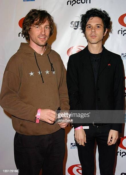 Spike Jonze and Nick of The Yeah Yeah Yeahs during Rip Curl Presents 'Sand Glam' Benefiting Heal the Bay Arrivals and Red Carpet at Club 1650 in...