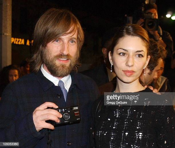 Spike Jonze director Sofia Coppola during 'Adaptation' Premiere Los Angeles at Mann Village Theatre in Westwood California United States