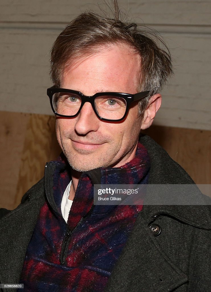 Spike Jonze poses backstage as he visits 'Eclipsed' To launch a dedications series in honor of abducted Chibok Girls of Northern Nigeriaon at The Golden Theatre on April 30, 2016 in New York, New York.
