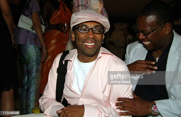Spike Lee and Andre Harrell during Tonya Lewis Lee and Crystal McCrary Anthony's 'Gotham Diaries' Book Release Party at Hudson Hotel in New York City...