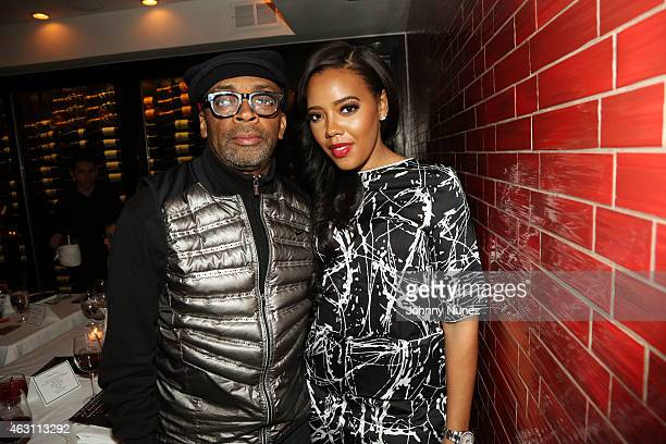 Spike Lee and Angela Simmons attend Da Sweet Blood Of Jesus dinner reception at Red Stixs on February 9 in New York City