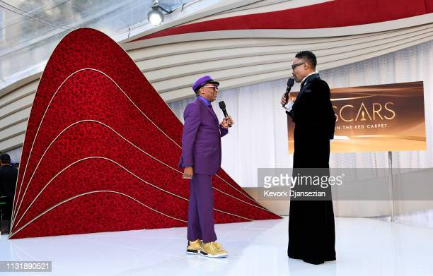 Spike Lee and Billy Porter attend the 91st Annual Academy Awards at Hollywood and Highland on February 24 2019 in Hollywood California