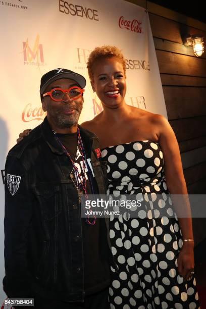 Spike Lee and Brandice Daniel Attend Harlem's Fashion Row at La Marina Restaurant Bar Beach Lounge on September 6 2017 in New York City