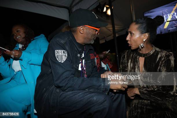 Spike Lee and Chioma Nnadi Attend Harlem's Fashion Row at La Marina Restaurant Bar Beach Lounge on September 6 2017 in New York City