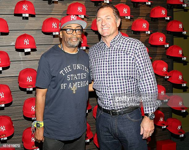 Spike Lee and Christopher Koch CEO New Era Caps attend the New Era Heritage  Series Launch a64029bb42b
