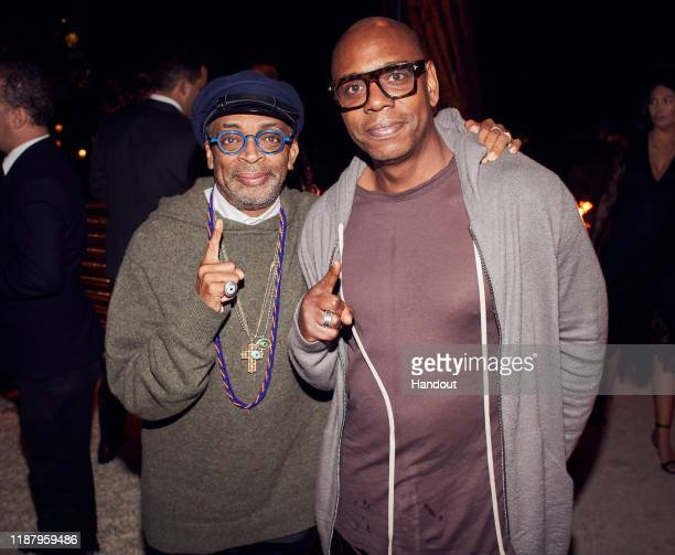 Spike Lee and Dave Chappelle attend Celebrate the Season: Ted's Holiday Toast at Private Residence on November 15, 2019 in Beverly Hills, California.