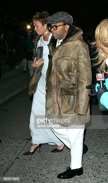 Spike Lee and guest) during Star Jones and Al Reynolds Wedding Ceremony - Arrivals and Departures at St. Bartholomew's in New York City, New York,...