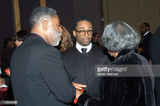 Spike Lee and guests during MoreHouse College Presents A Candle in the Dark 2005 Gala at Hyatt Regency Atlanta in Atlanta Georgia United States