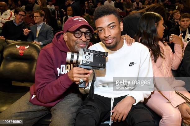 Spike Lee and Jackson Lee attend the 69th NBA AllStar Game at United Center on February 16 2020 in Chicago Illinois