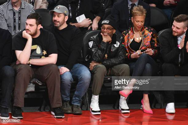 Spike Lee and Jimmy Kimmel attend The 67th NBA AllStar Game Team LeBron Vs Team Stephen at Staples Center on February 18 2018 in Los Angeles...