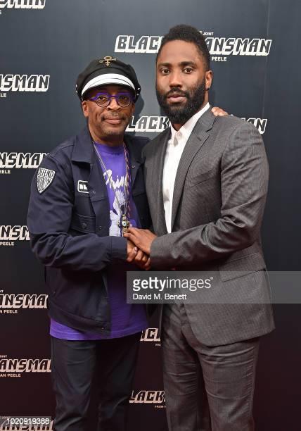 Spike Lee and John David Washington attend the Blackkklansman Special Screening at Ham Yard Hotel on August 21, 2018 in London, England.