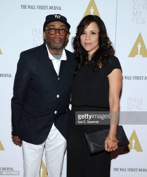 """Spike Lee and Rosie Perez attend the 25th anniversary screening of """"Do The Right Thing"""" at the closing night of the 2014 BAMcinemaFest at BAM Harvey..."""