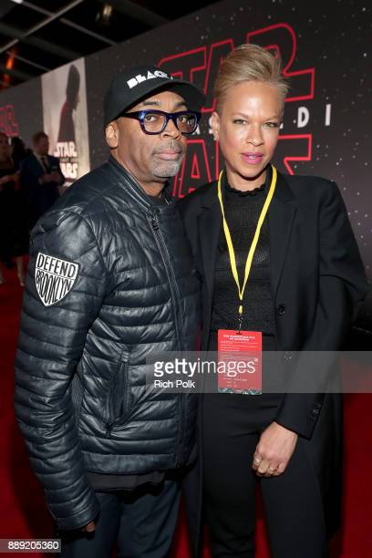 Spike Lee and Tonya Lewis Lee at Star Wars The Last Jedi Premiere at The Shrine Auditorium on December 9 2017 in Los Angeles California