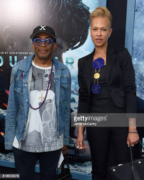 Spike Lee and Tonya Lewis Lee attend the 'DUNKIRK' New York Premiere on July 18 2017 in New York City
